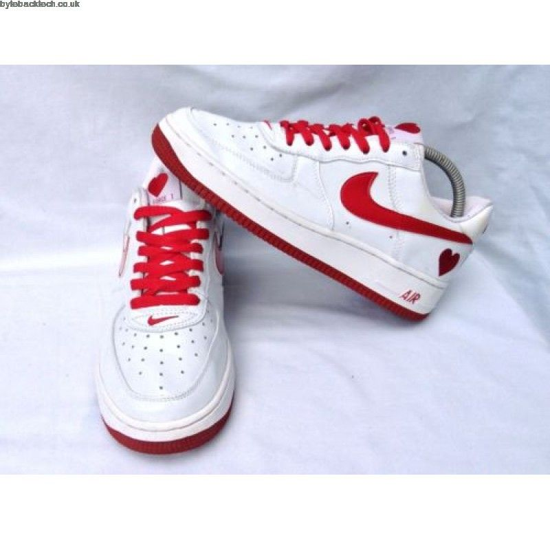 Ladies Nike Air Force 1 Low Valentines Love Heart 307109 161