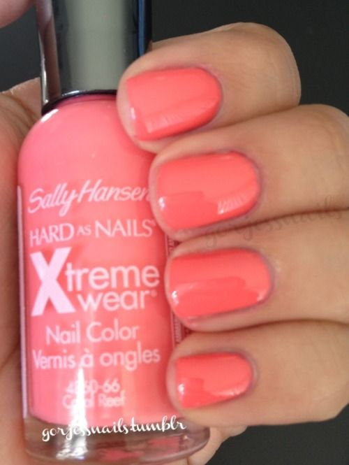 Sally Hansen Coral Reef This Was The Color That You Liked On My