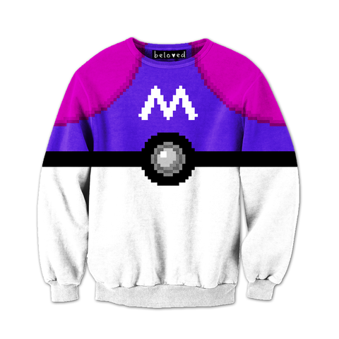 I NEED THAT FUCKING SHIT TO LIVEEEE!!!!!!!!♥*-*/////Always-Catch'm-All Sweatshirt ($59) #Pokemon #PokeBall #MasterBall