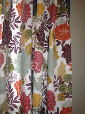 Shop Style Selections Bernard 84 In L Floral Back Tab Curtain