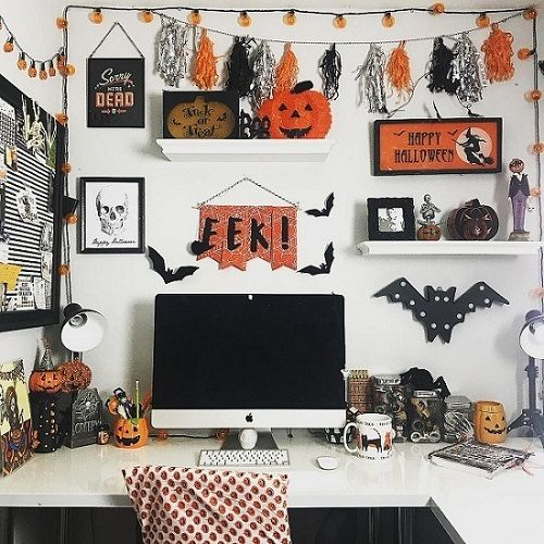 55 Best Halloween Cubicle Ideas Worth Replicating at Your Office - halloween decorations for the office
