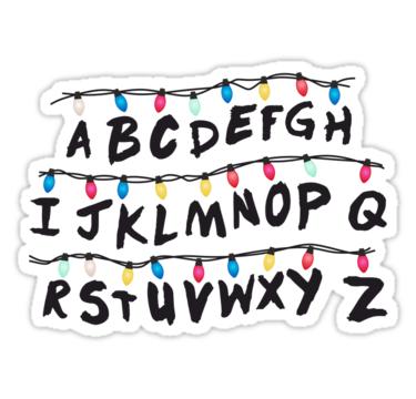 Stranger Things Alphabet Lights • Also buy this artwork on