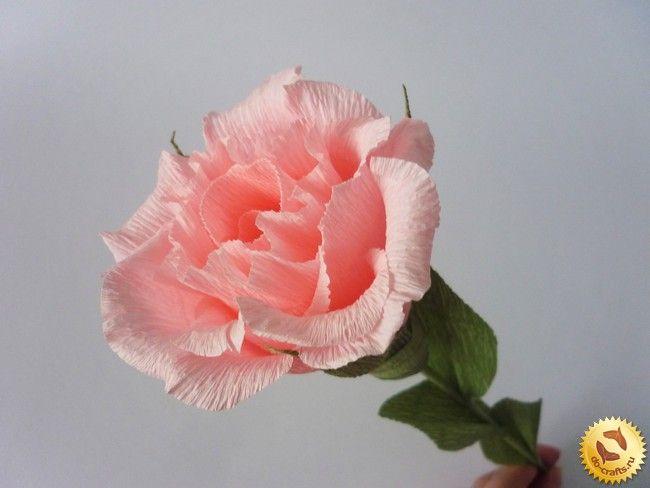 Розы из гофрированной бумаги 22