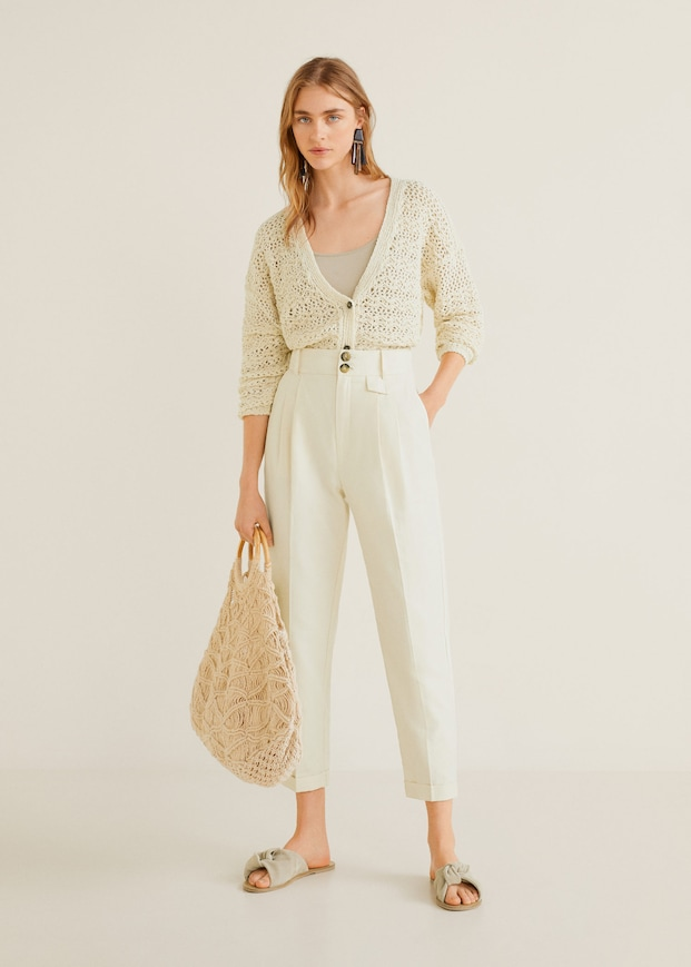 Sale Online 2020 For Women Mango Usa In 2020 Straight Pants Pants For Women Straight Trousers