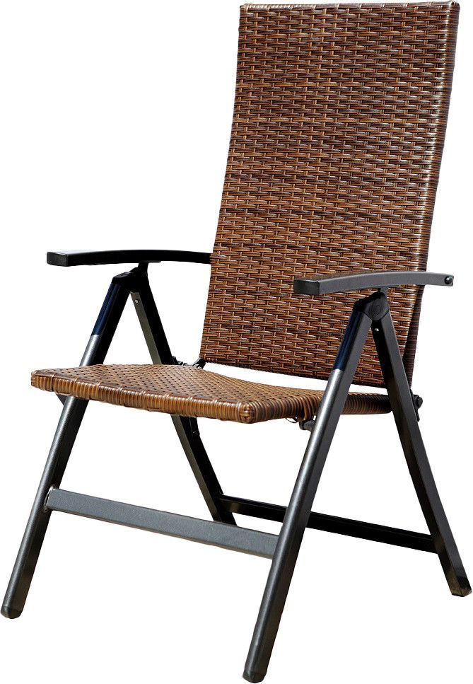 Hand Woven Polyethylene Wicker Outdoor Reclining Lounge Chair