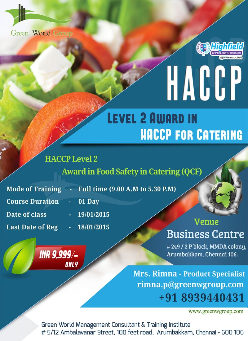 Green World Group elite offer for HACCP Food safety