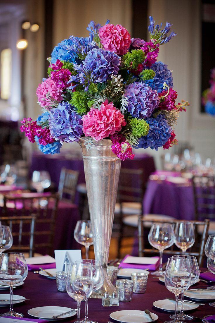 Wedding decoration ideas purple  Pin by Ju Li on Arranjos de mesa  Pinterest  Flowers