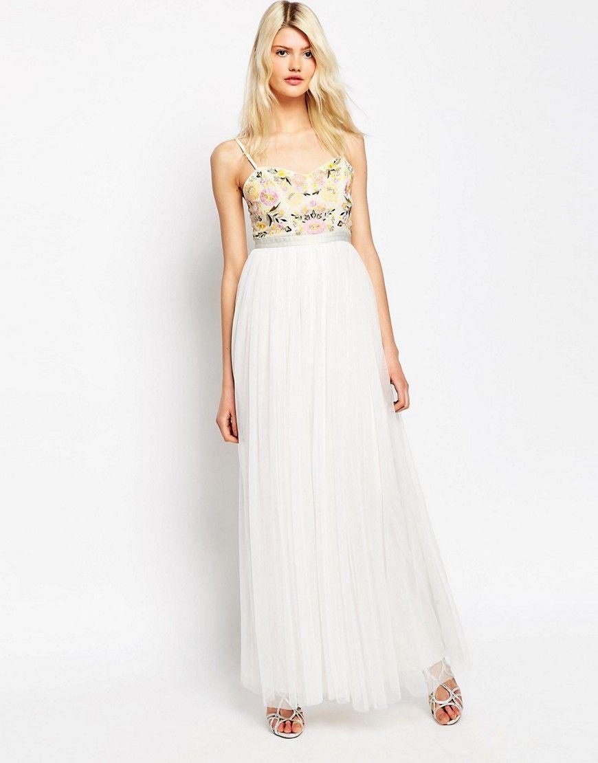 b9cfde4b924b Needle & Thread Embroidery Floral Tulle Maxi Dress | Maxi Dresses ...