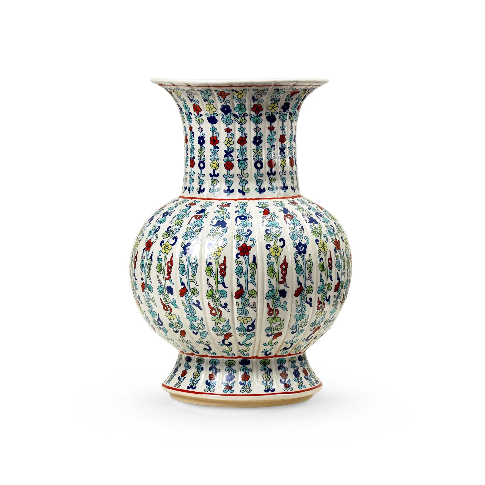 Melon Baluster Vase, Green, MultiColored Bungalow 5
