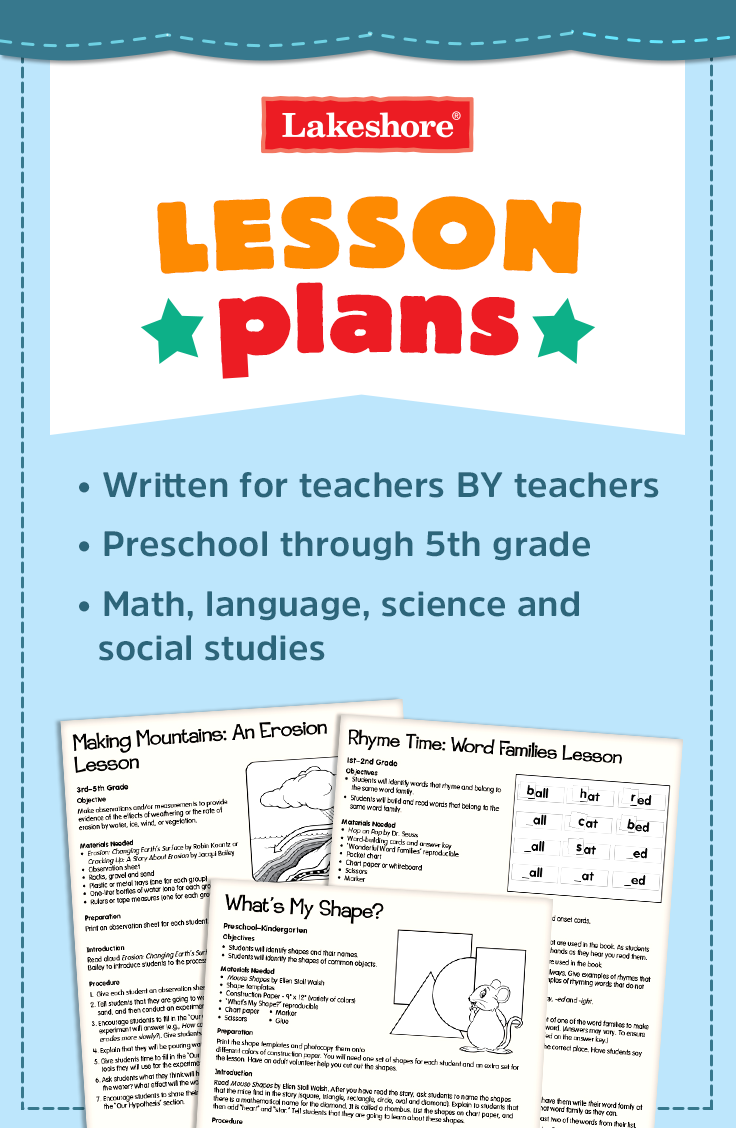 Look To Lakeshore For Free Lesson Plans For Language Math Science