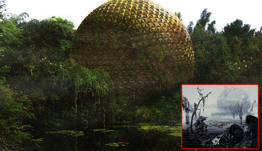 After Disney: Spaceship earth by eledoremassis02 (Wonderland. Beijing, China)