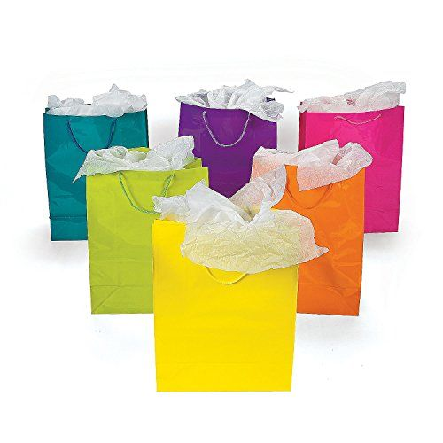 1 x lot of 12 large bright neon color paper gift party bags health 1 x lot of 12 large bright neon color paper gift party bags health and negle Image collections