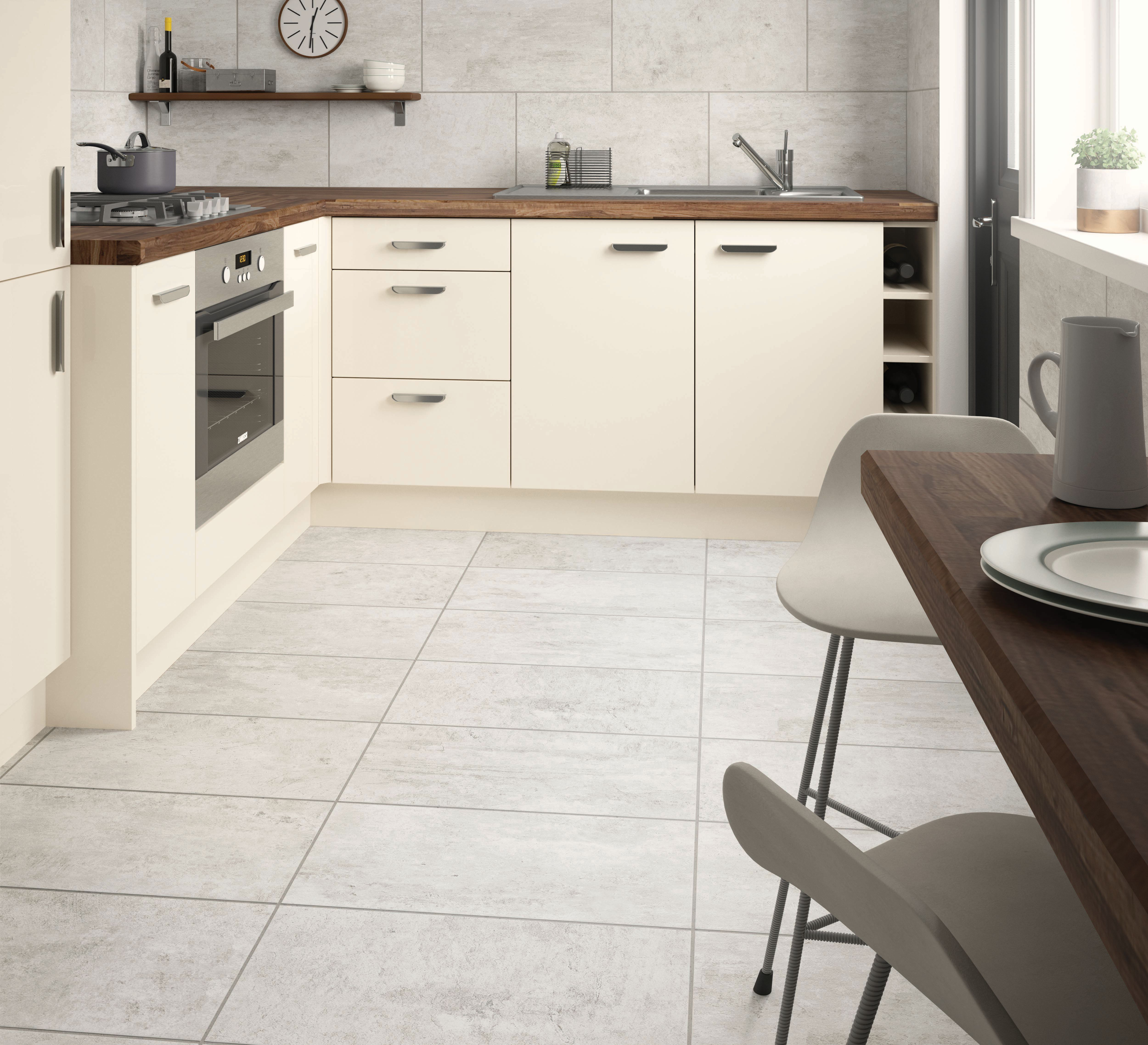 Wickes City Stone Grey Ceramic Tile 600 x 300mm Grey