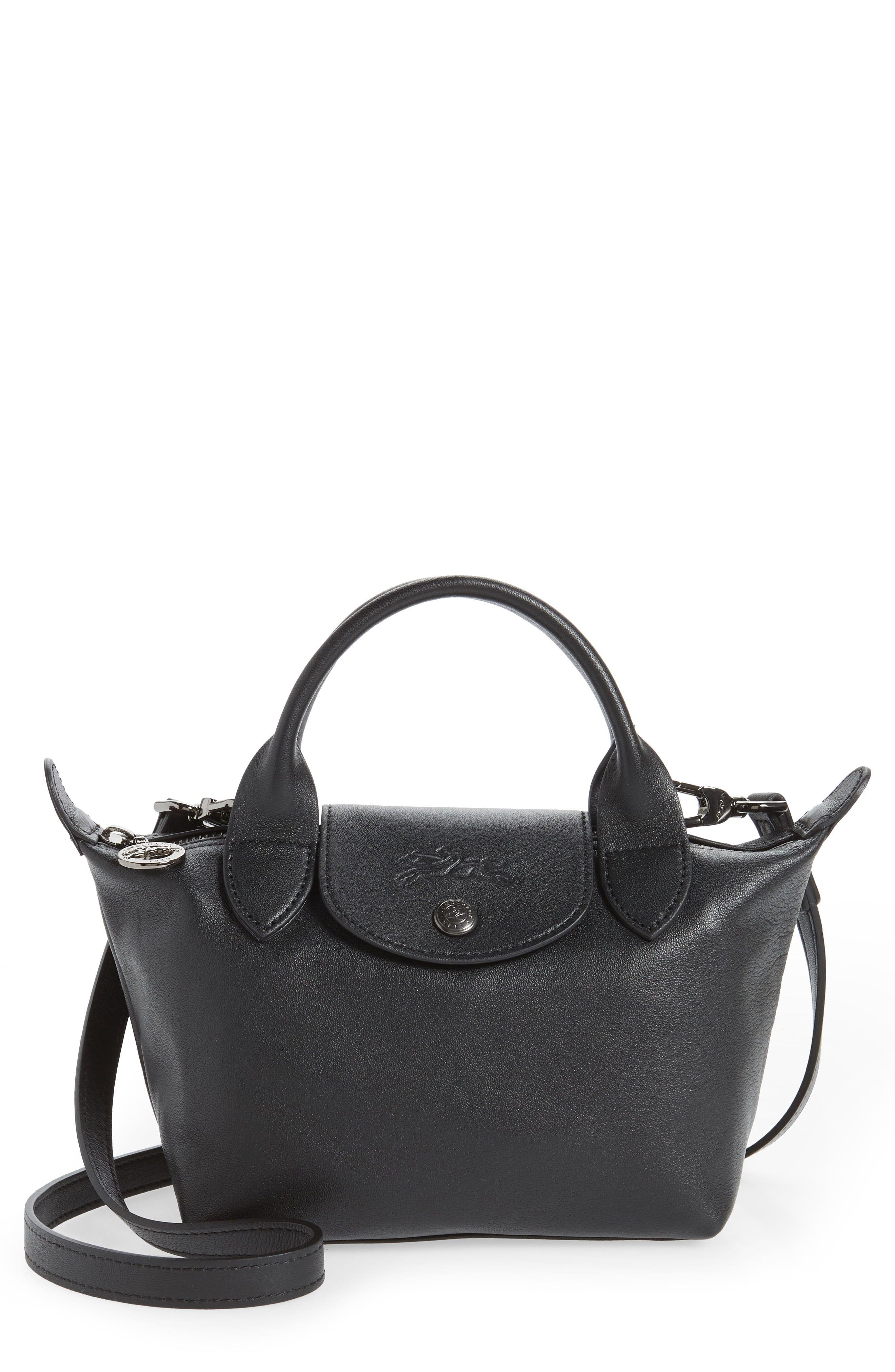 Longchamp Mini Le Pliage Cuir Leather Top Handle Bag | Nordstrom ...