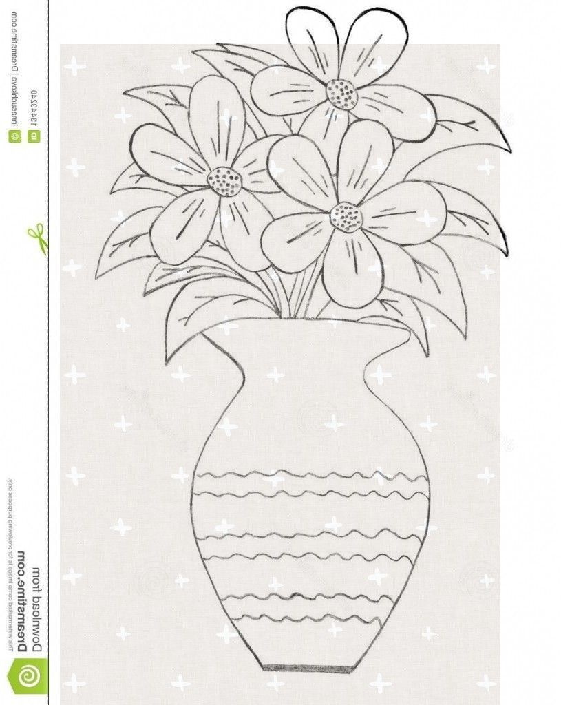 12 Delightful Glass Vases With Branches Ideas Flower Vase Drawing Flower Sketches Pencil Drawing Pictures