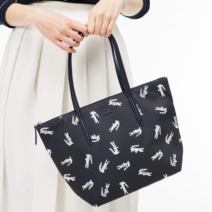 d5986ac6e3 Lacoste Women's L.12.12 Concept Croc Print Small Zip Tote Bag ...