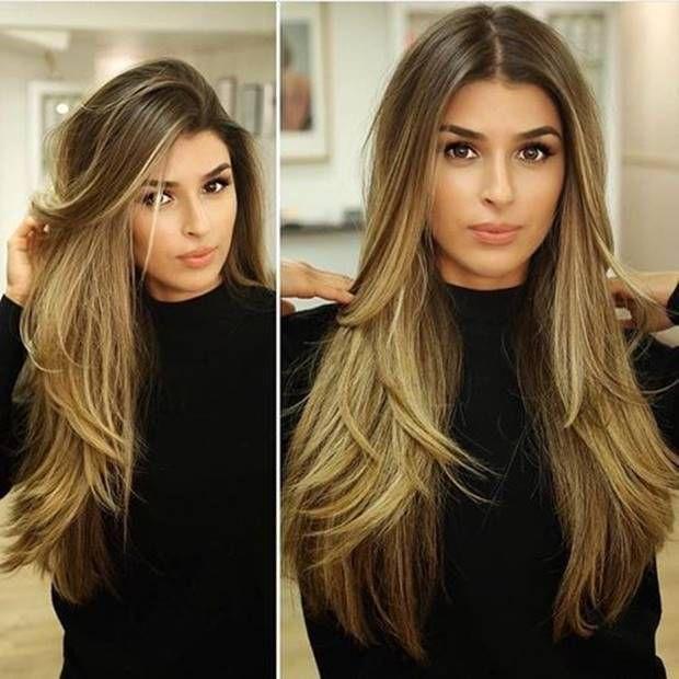قصات شعر طبقات قصير و طويل و مدرج مناسب لجميع الوجوه 2019 Short Long And Plaid Hairsty Long Layered Hair Haircuts For Long Hair Beautiful Long Hair