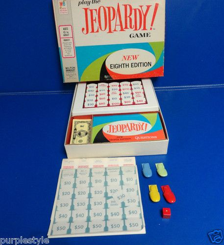 Vintage 1964 jeopardy board game eighth editon by milton