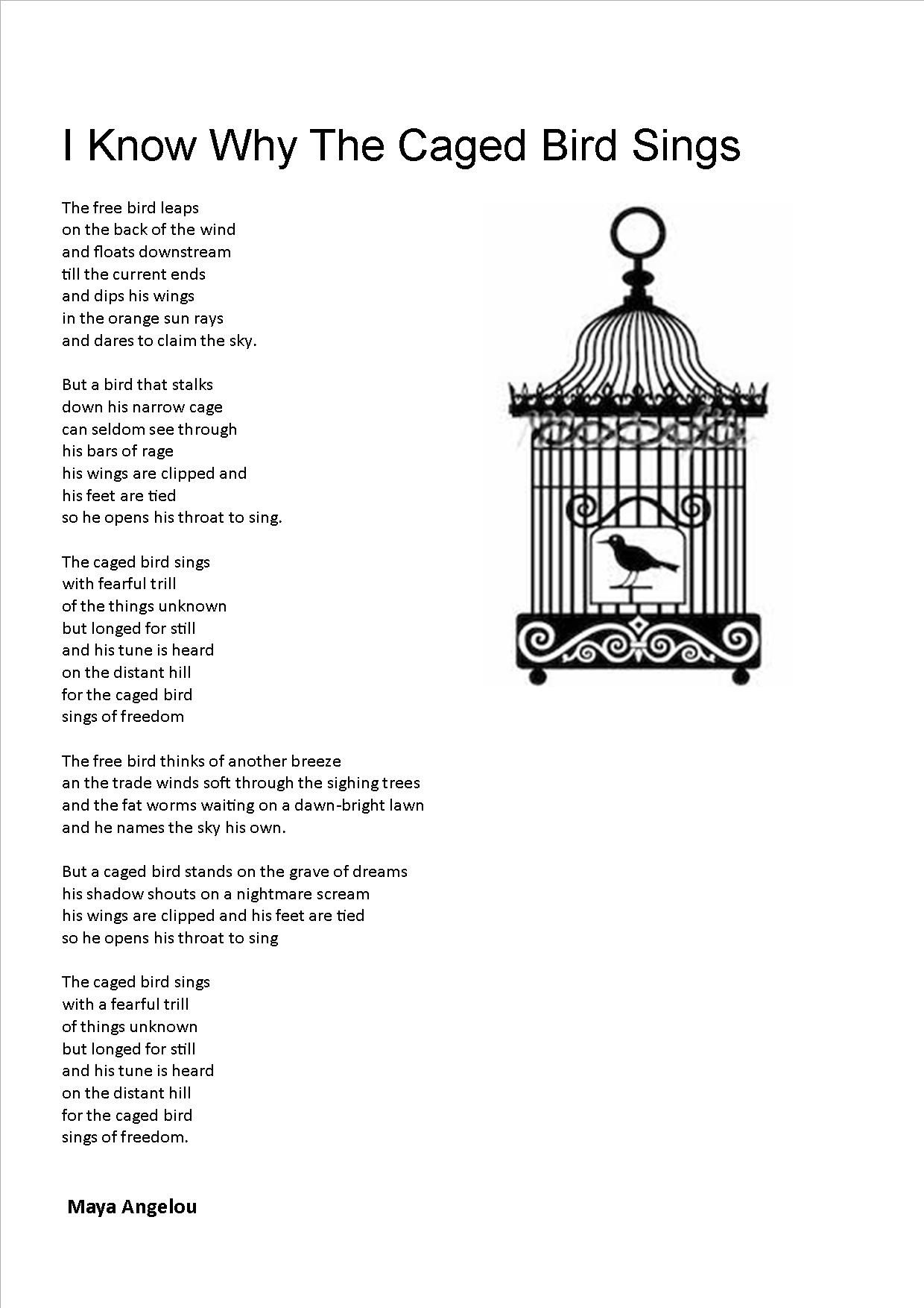 I Know Why The Cage Bird Sings Favorite Poem Tattoospiercings