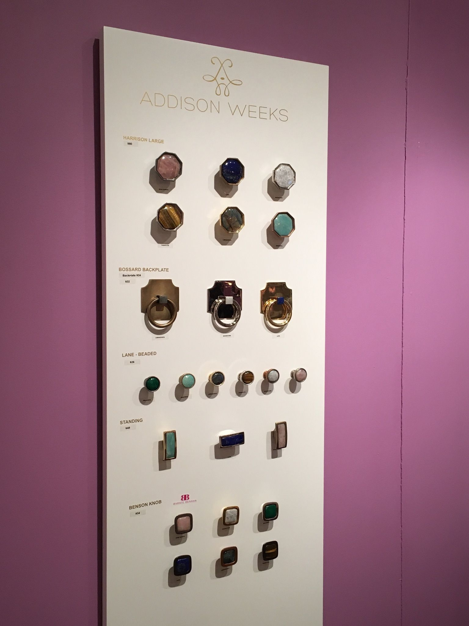 Beautiful cabinet hardware inspired by jewelry from Addison Weeks ...