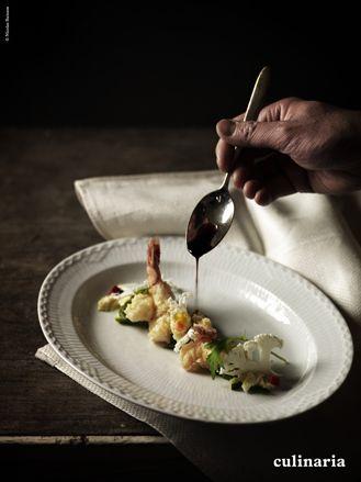Kamo Tomoyasu - Culinaria Le tempura de crevette avec sa sauce aigre-doux.