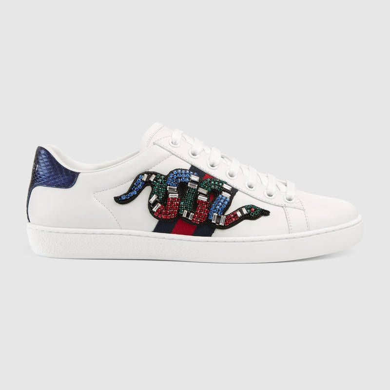 Gucci sneakers, White leather shoes