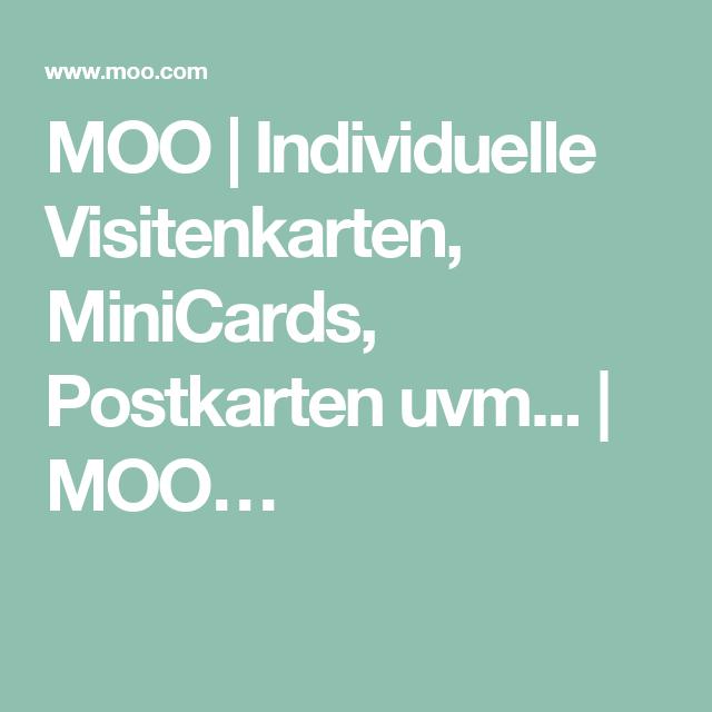 MOO | Individuelle Visitenkarten, MiniCards, Postkarten uvm... | MOO ...