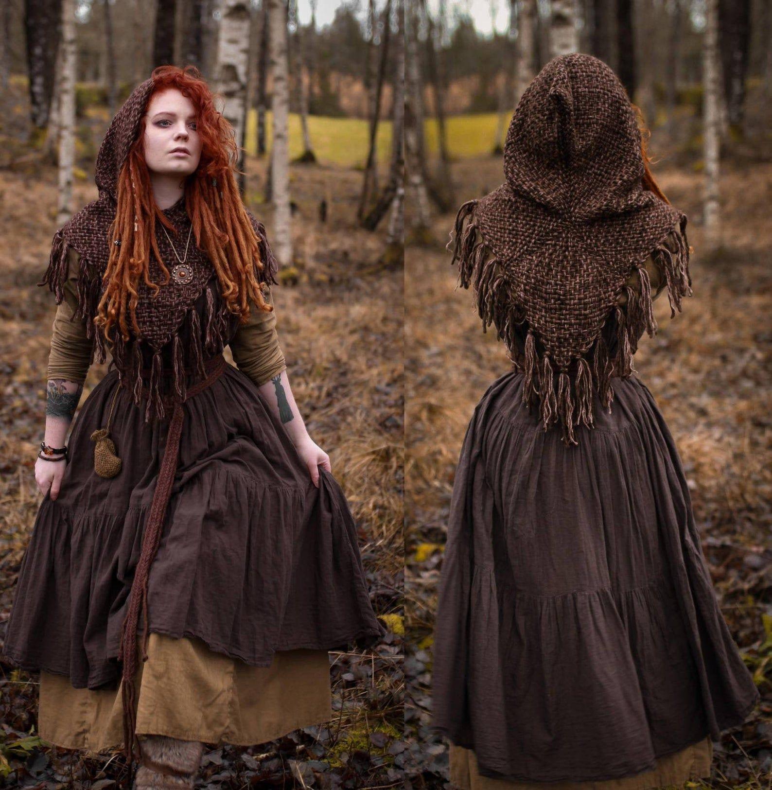 Hand geweven Skjoldehamn geïnspireerd kap in wol en zijde | Etsy