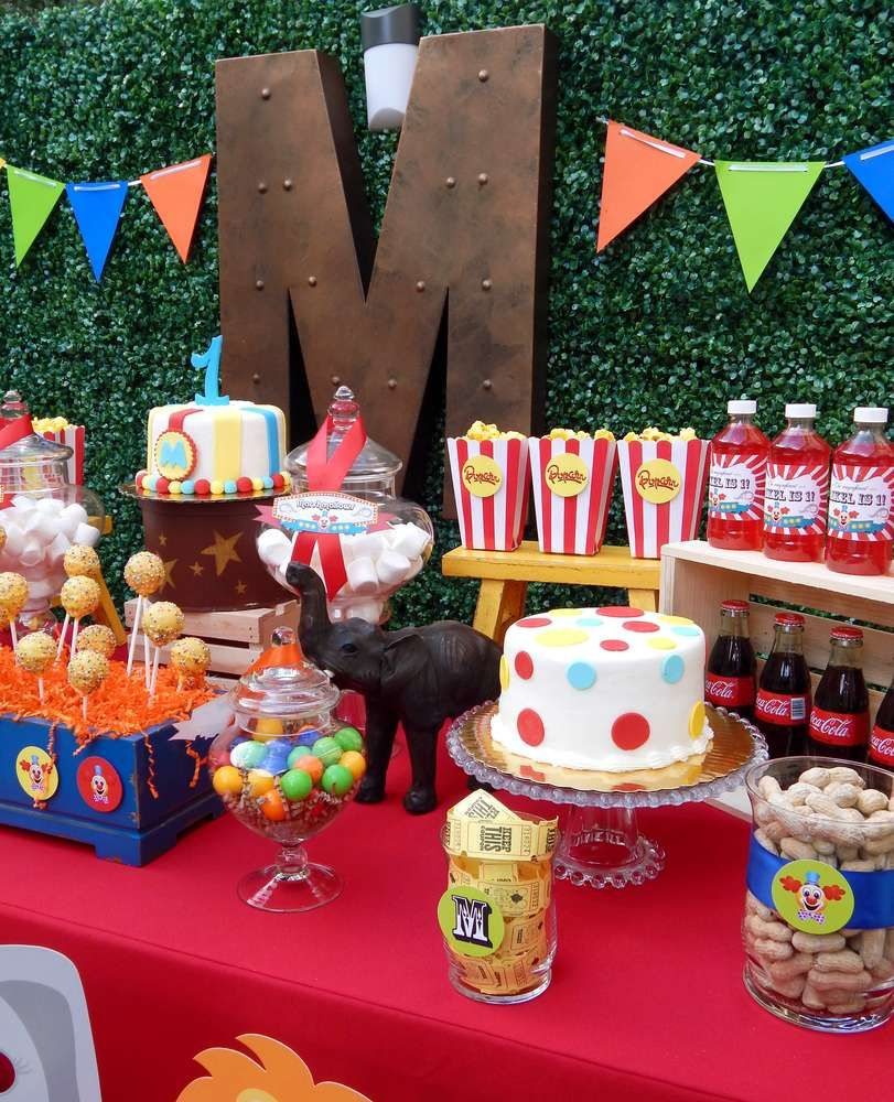 Birthday Party Desserts, Circus Birthday And