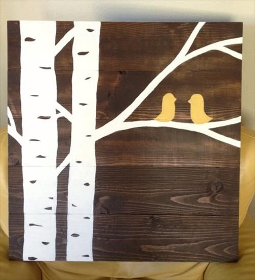 Diy pallet rustic bird wall art trees the ojays and bird art diy pallet rustic bird wall art solutioingenieria Images