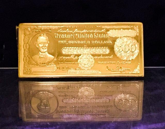 1Oz. .999 Pure 1882 $500 Gold Certificate 16th President Abraham ...