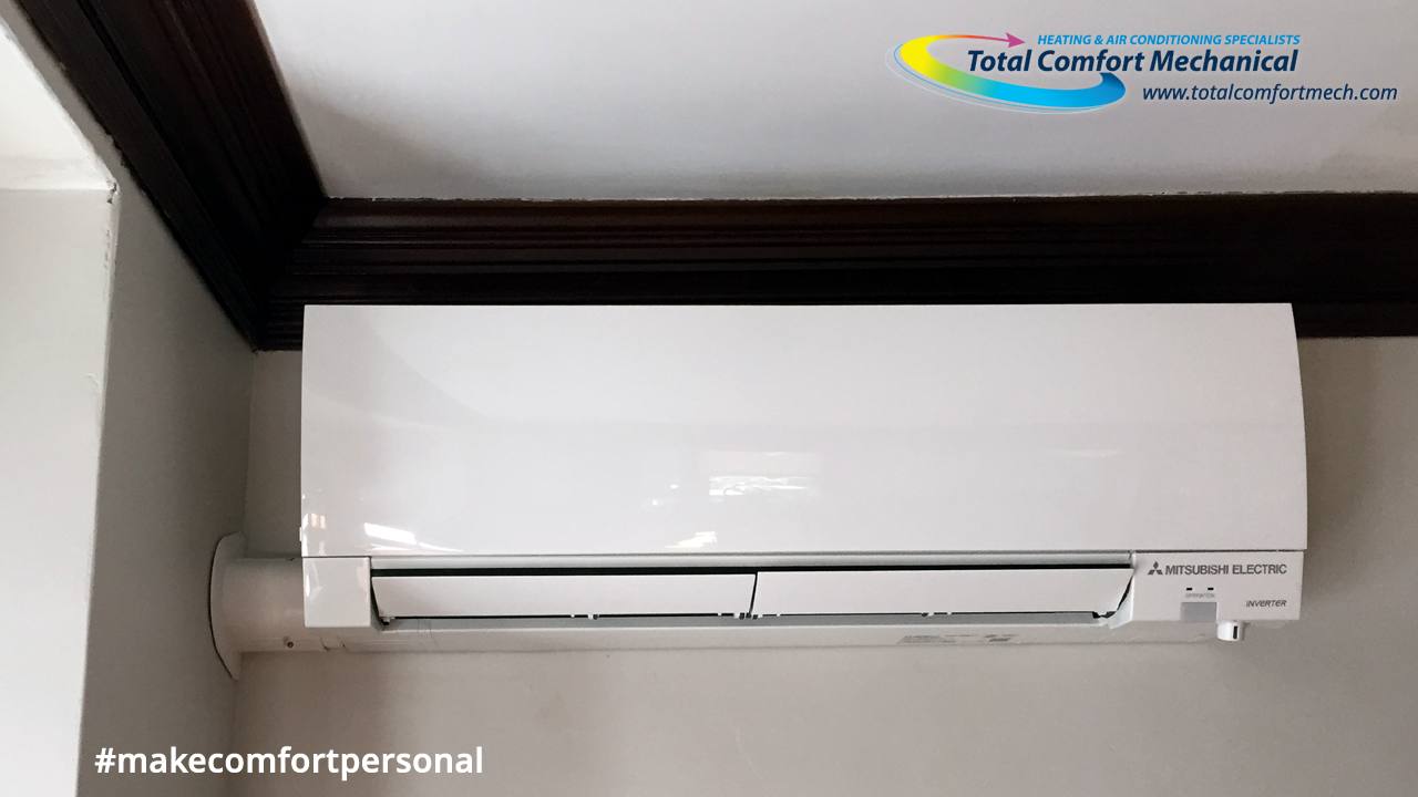 Mitsubishi Ductless Air Handler Total Comfort Mechanical Is The
