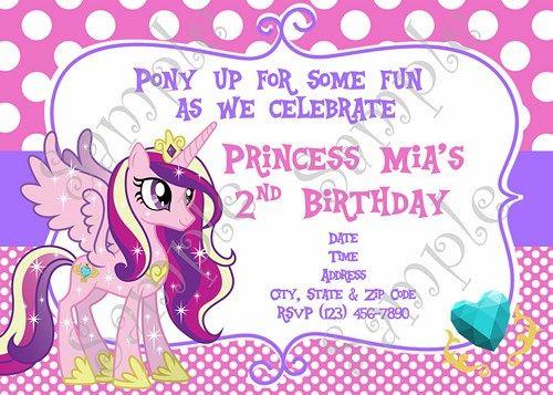 My Little Pony Birthday Invitation My Little Pony Thank You