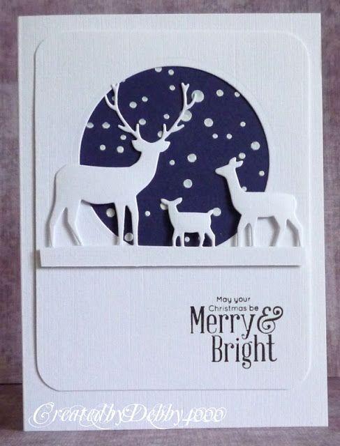 Cute Reindeer Cutting Die Box Cutting Die Christmas Winter Scrapbooking DIY Card