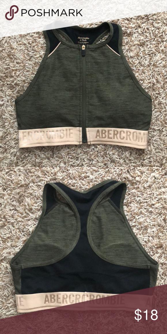 50be24dabb Abercrombie   Fitch sports bra XS zip up Racerback sports bra. Size XS.  Only worn once. Abercrombie   Fitch Intimates   Sleepwear Bras