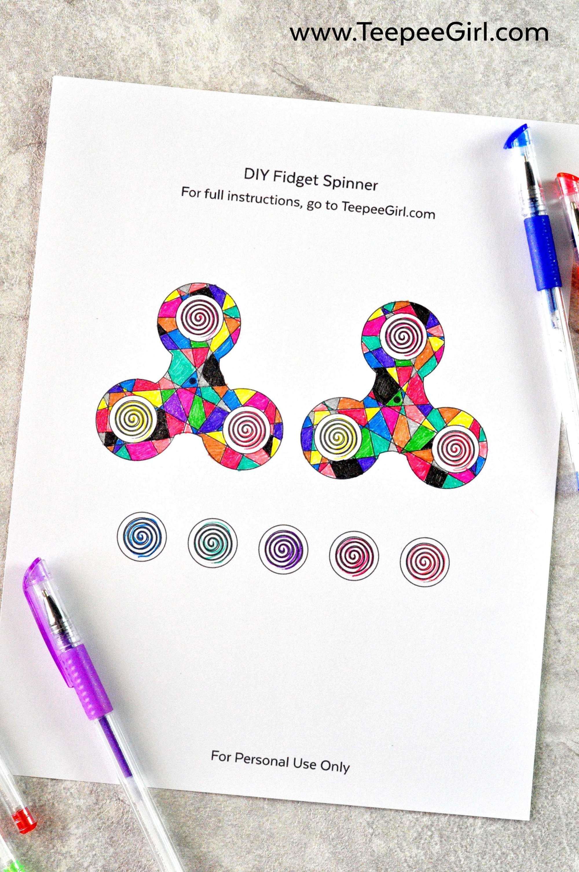 Color And Make Your Own Fidget Spinner This Diy Fidget