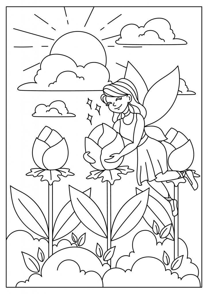 Ausmalbild Elfe | malbilder | Pinterest | Mandalas zum ausdrucken ...