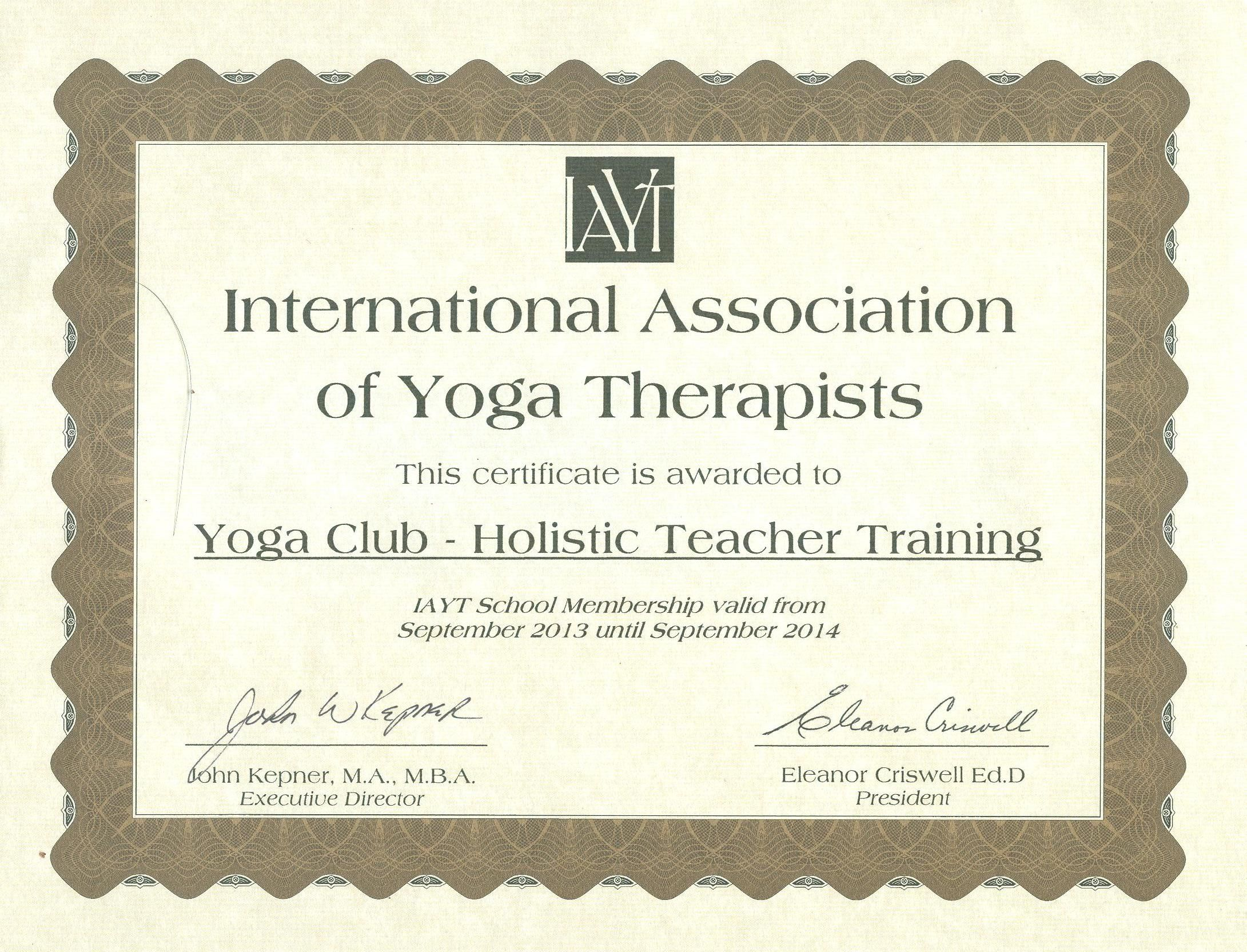 Yoga Alliance Teacher Training Certificate Template Learn about yoga ...