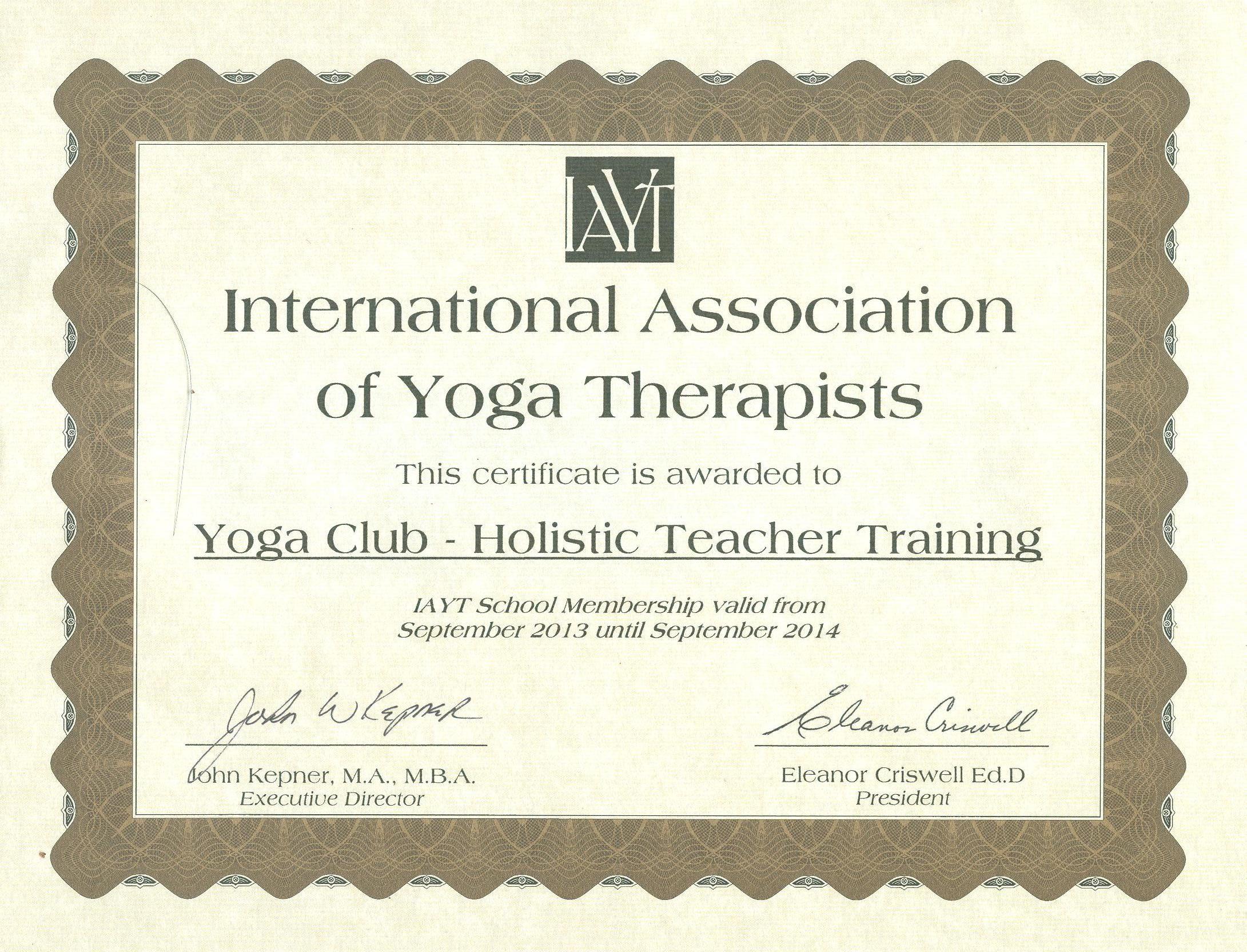 Yoga Certificate Template