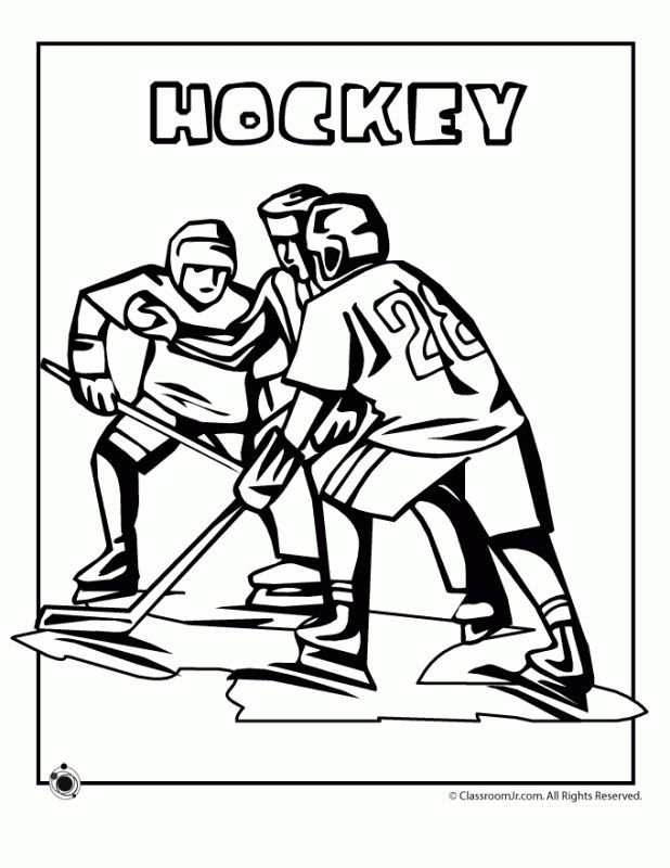 Hockey Printable Coloring Pages For Teenagers