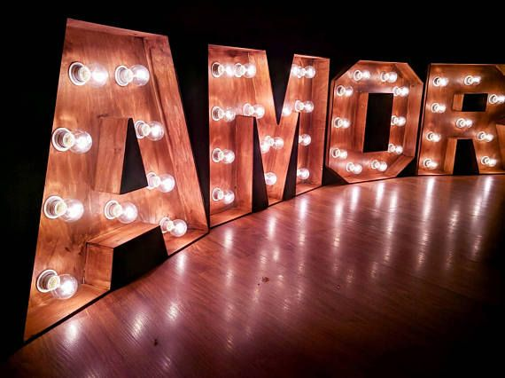 40 Lighted Marquee Letter Amore Letters With Lights Amor Signs