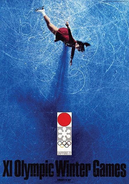 Sapporo 1972 Winter Olympics Poster - Yusaku Kamekura