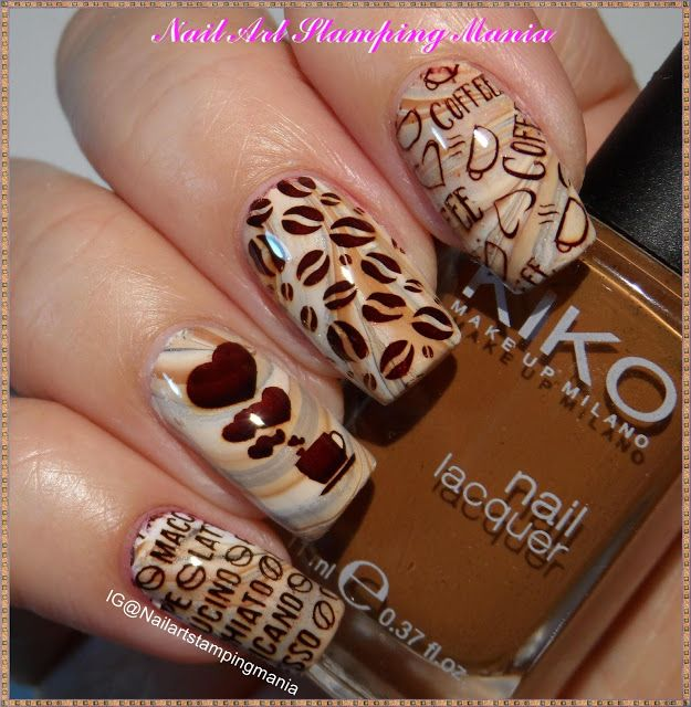Nail Art Stamping Mania: Coffee Manicure with Uber Mini Coffee ...