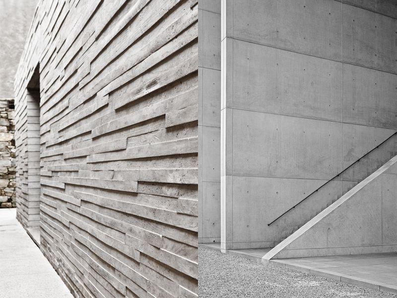 El cemento como elemento decorativo cemento elementos y - Como decorar un muro de hormigon ...