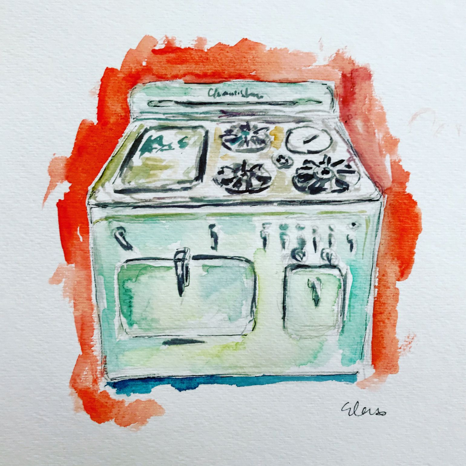 Betty\'s Kitchen | Have Watercolors Will Travel | Pinterest | Stove ...
