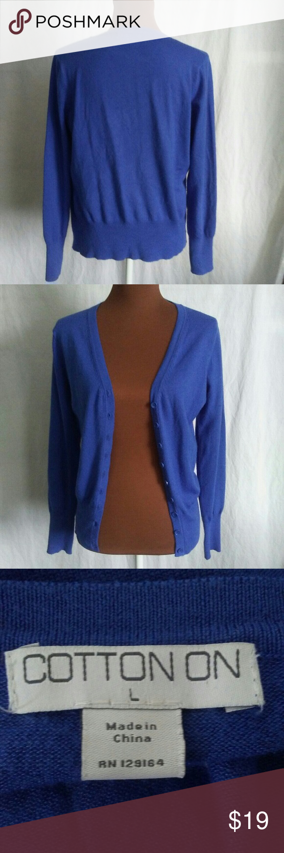 Cotton On royal blue cardigan sweater | Royal blue cardigan, Royal ...