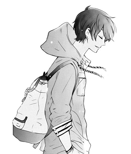 Cute Black And White And Anime Image On We Heart It