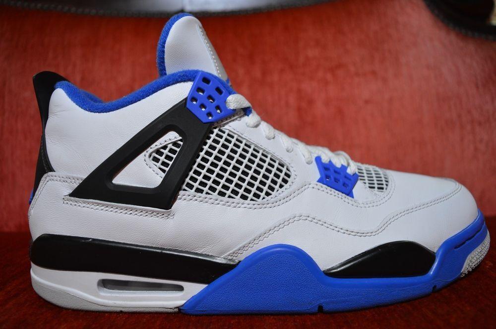 63bbe08d8f4c Nike Air Jordan 4 Retro Motorsport White Black Blue 308497-117 Mens Size  9.5  fashion  clothing  shoes  accessories  mensshoes  athleticshoes (ebay  link)