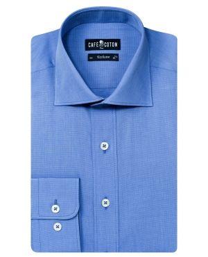 Chemise coupe cintrée en Fil à Fil bleu   Shirts   clothes   Pinterest 06b5a9ac8c73