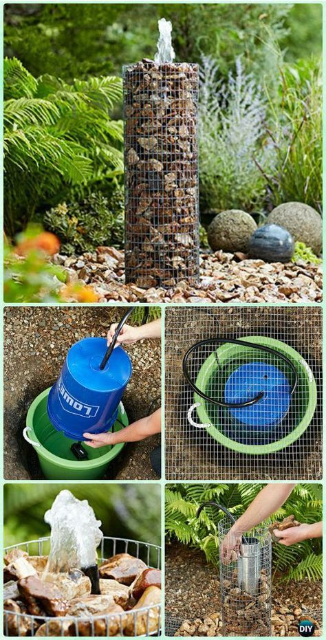 DIY Garden Fountain Landscaping Ideas & Projects with Instructions #landschaftsbauideen
